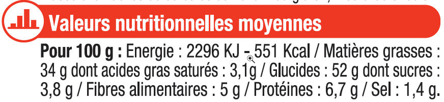 Chips arome (ketchup/moutarde/barbecue) - Informations nutritionnelles - fr