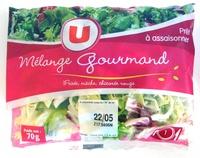 Mélange Gourmand (Frisée, mâche, chicorée rouge) 1 portion - Produit