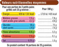 Petits pains grillés au froment - Voedingswaarden - fr