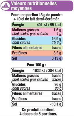 Les entremets préparation pour flan caramel - Nutrition facts