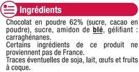 Les entremets préparation pour flan chocolat - Ingredients