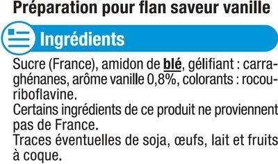 Les entremets préparation pour flan vanille - Ingredients