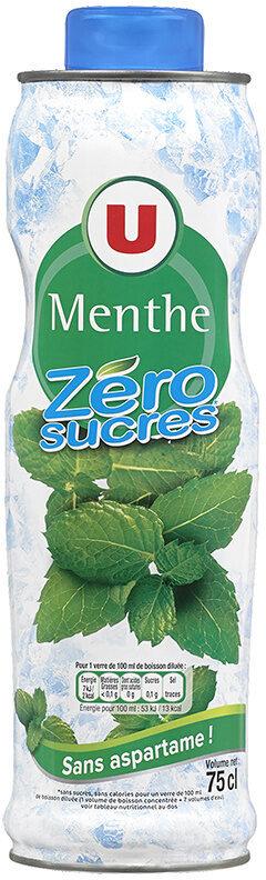 Sirop à la menthe 0% de sucre sans aspartame - Product