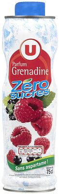 Sirop à la fraise 0% de sucre sans aspartame - Produit