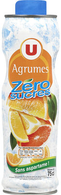 Boisson concentré agrumes zéro de sucre avec edulcorants - Produit - fr