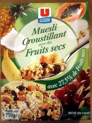 Muesli croustillant avec des Fruits Secs - Product