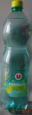 Pétillante, saveur citon-citon vert - Product - fr