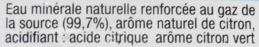 Pétillante, saveur citon-citon vert - Ingredients - fr