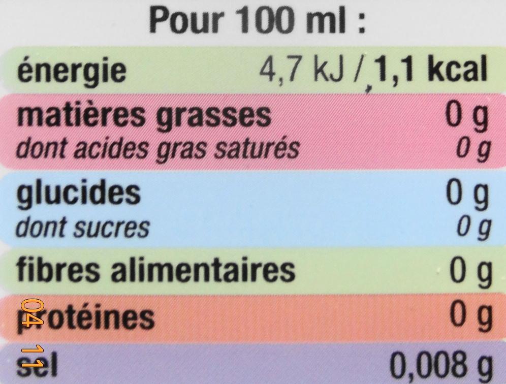 Pétillante, saveur citon-citon vert - Nutrition facts - fr