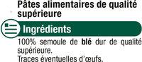 Coquillettes qualité supérieure - Ingrédients - fr