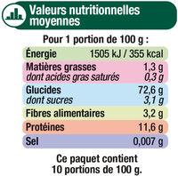 Coquillettes qualité supérieure - Informations nutritionnelles - fr