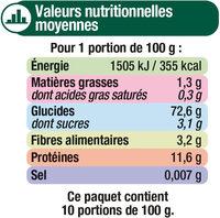 Macaroni qualité supérieure - Voedigswaarden