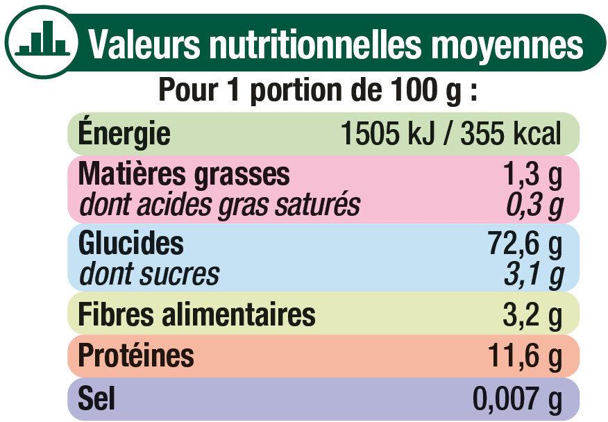 Spaghetti qualité supérieure - Nutrition facts - fr