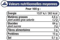 Pâtes aux oeufs macaroni IGP d'Alsace - Voedigswaarden