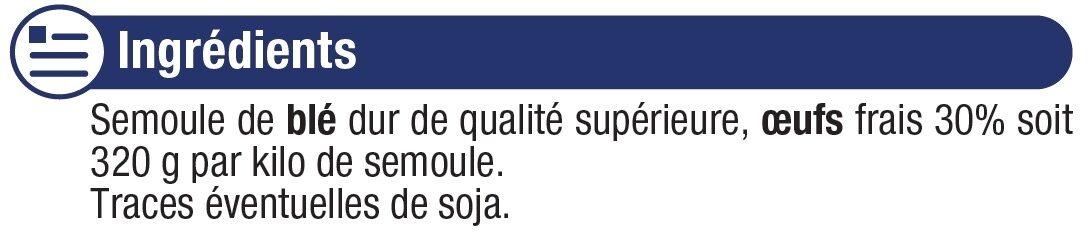 Petits nids IGP d'Alsace aux oeufs - Ingredients