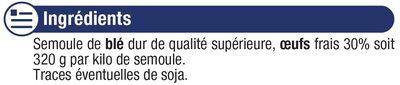 Petits nids IGP d'Alsace aux oeufs - Ingrédients - fr