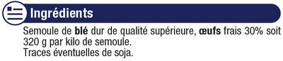 Tagliatelles IGP d'Alsace aux oeufs - Ingrédients - fr