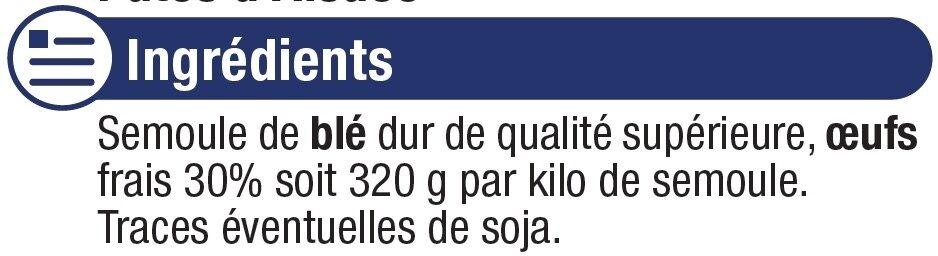 Pâtes aux oeufs Späetzle IGP d'Alsace - Ingrediënten - fr
