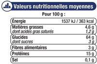 Pâtes aux oeufs Späetzle IGP d'Alsace - Voedingswaarden - fr