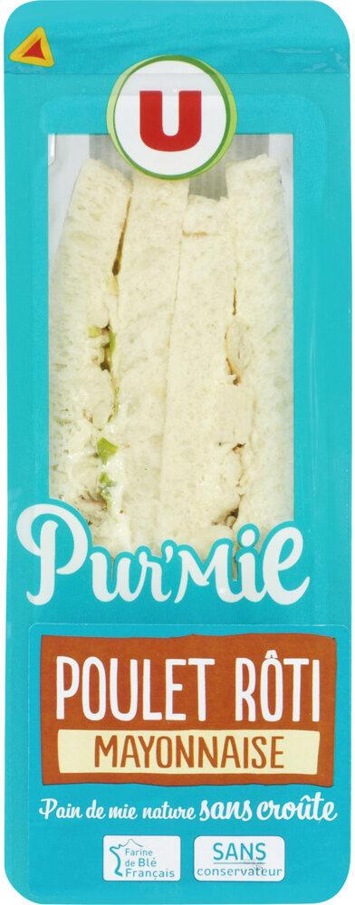 Sandwich pur mie poulet-mayonnaise - Produit - fr
