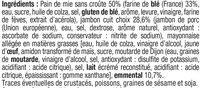 Sandwich Pur Mie Jambon-Emmental - Ingredients