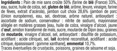 Sandwich Pur Mie Jambon-Emmental - Ingrediënten - fr