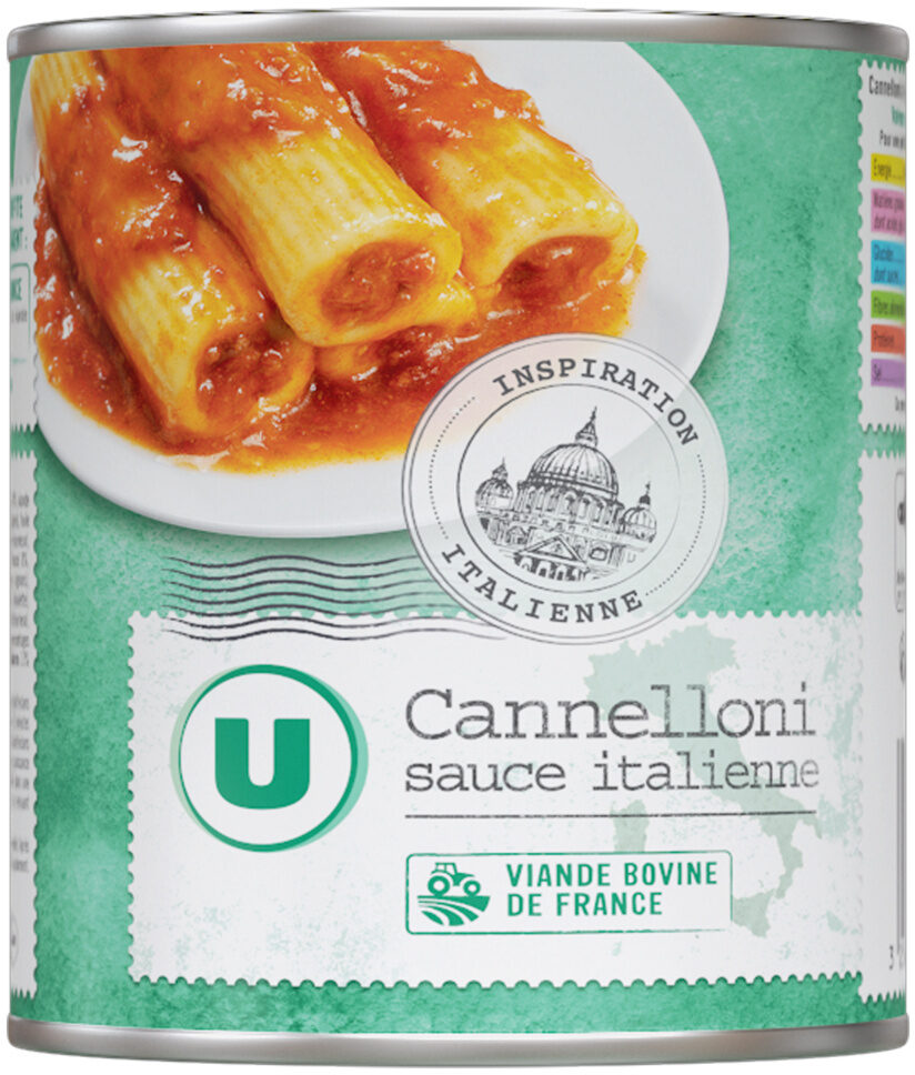 Cannelloni pur boeuf sauce italienne - Produkt - fr