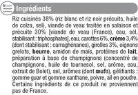 Veau aux Girolles et son Riz - Inhaltsstoffe