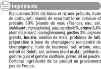 Veau aux Girolles et son Riz - Inhaltsstoffe - fr