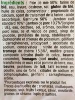 Coque-Monsieur Chèvre - Ingredients - fr