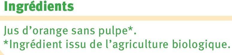 Pur jus d'orange sans pulpe - Ingrédients - fr