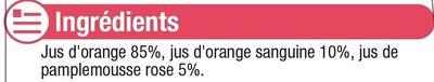 Cocktail d'agrumes orange, orange sanguine, pamplemousse rose - Ingrediënten - fr