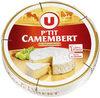 P'tit Camembert au lait pasteurisé 20%MG - Produit