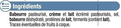 Fromage nature au lait pasteurisé 5% de MG - Ingredients