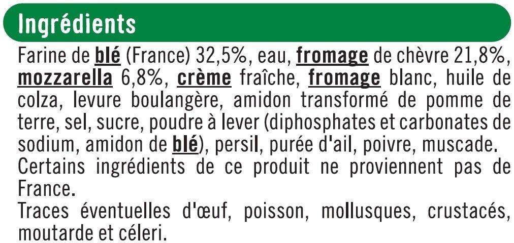 Pizza au chèvre - Ingrédients - fr