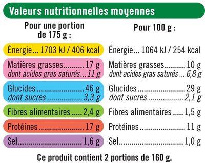 Pizza au chèvre - Informations nutritionnelles - fr