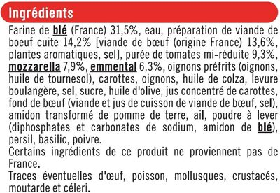 Pizza bolognaise - Ingrediënten - fr