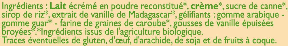 Crème glacée à la vanille de Madagascar - Ingredients - fr