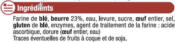 Croissants pur beurre - Ingrediënten - fr