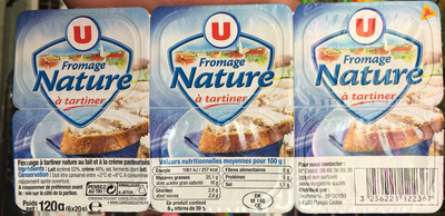 Fromage nature à tartiner (25,1% MG) - Product