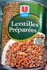 Lentilles préparées - 800 g - U - Product
