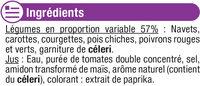 Légumes pour couscous - Ingrediënten