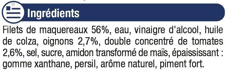 Filets de Maquereaux à l'Escabèche - Ingrediënten - fr
