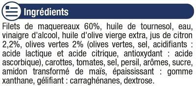 Filets de maquereaux à la sauce olive et citron - Ingrédients