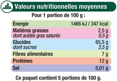 Coquillette au blé complet - Informations nutritionnelles - fr
