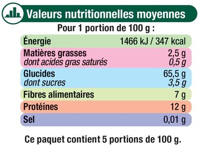 Spaghetti Au Blé Complet - Nutrition facts - fr