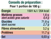 Capellini qualité supérieure - Nutrition facts - fr