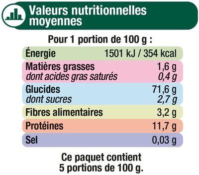 Farfalle qualité supérieure cello - Nutrition facts - fr