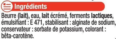 """Beurre doux à teneur réduite en matière grasse """"Ma Prairie"""" 60% deMG - Ingrédients"""