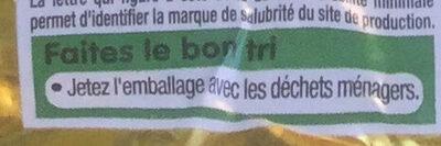 Beurre demi-sel à teneur réduite en matière grasse - Instruction de recyclage et/ou information d'emballage - fr